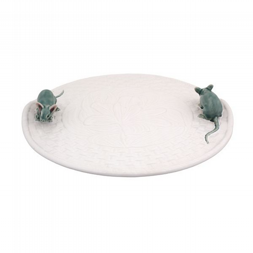 Cheese Platter With Mice White